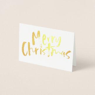 Cartão Metalizado Natal dourado