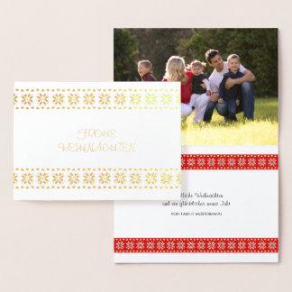 Cartão Metalizado Natal fotografia texto personalizante