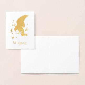 Cartão Metalizado Nunca mais ouro do corvo