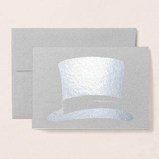 Cartão Metalizado O chapéu alto inglês da tradição gosta do Sr.
