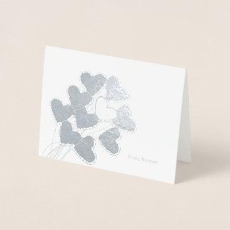 Cartão Metalizado O coração Balloons artigos de papelaria