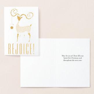 Cartão Metalizado O cristão exulta/alegria do Natal do cristo