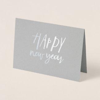 Cartão Metalizado O feliz ano novo