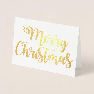 Cartão Metalizado O Feliz Natal gosta do roteiro da tipografia