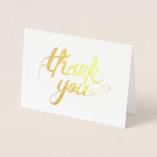 Cartão Metalizado Obrigado