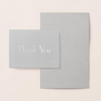 Cartão Metalizado Obrigado à moda chique da pia batismal você