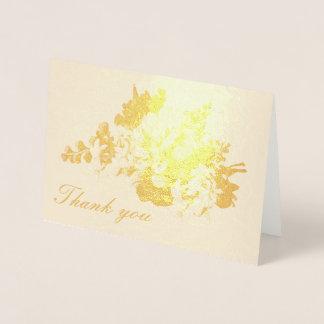 Cartão Metalizado Obrigado, a peônia e o jasmim