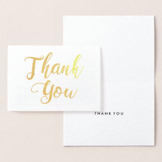 Cartão Metalizado Obrigado apreciação