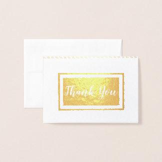 Cartão Metalizado Obrigado • Artesanatos do fabricante que costuram