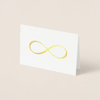 Cartão Metalizado Obrigado da caligrafia do símbolo da infinidade do