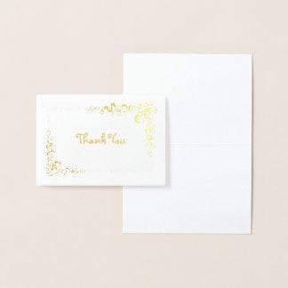 Cartão Metalizado Obrigado de canto da beira do rolo você mini