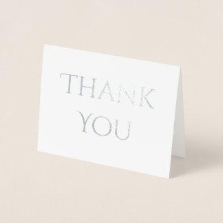 Cartão Metalizado Obrigado decorativo chique da pia batismal você