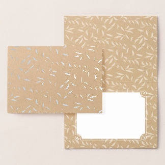 Cartão Metalizado Obrigado elegante do Shimmer da prata da folha do
