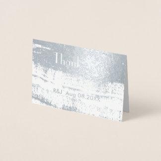 Cartão Metalizado Obrigado minimalista do casamento dos cursos