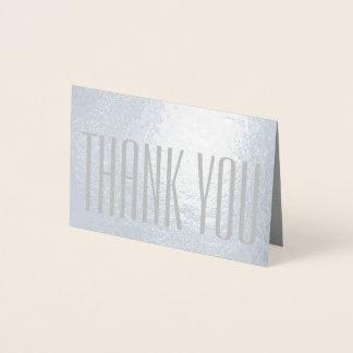 Cartão Metalizado Obrigado minimalista moderno simples você prateia