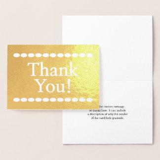 """Cartão Metalizado """"Obrigado personalizado, básico & simples você!"""""""