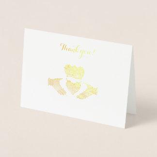 Cartão Metalizado Obrigado que de Claddagh do irlandês você nota
