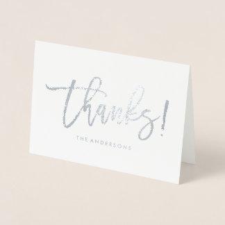 Cartão Metalizado Obrigado Wedding na moda do roteiro | você