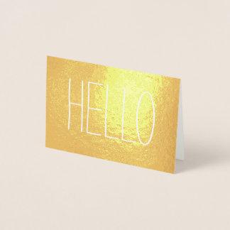 Cartão Metalizado Olá! ocasional