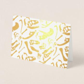 Cartão Metalizado Ossos de dinossauro (ouro)