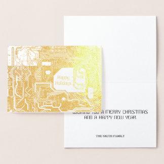 Cartão Metalizado Ouro do circuito
