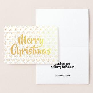 Cartão Metalizado Ouro do Feliz Natal