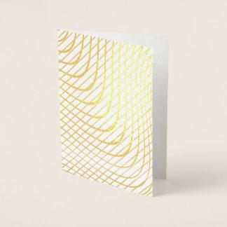 Cartão Metalizado Ouro minimalista abstrato moderno