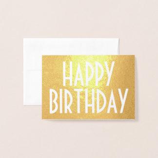 Cartão Metalizado Ouro minimalista moderno simples do feliz