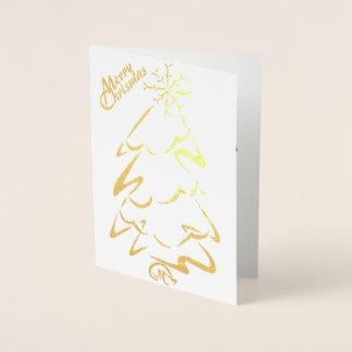 Cartão Metalizado Ouro & (ou) árvore de prata de Chrismas