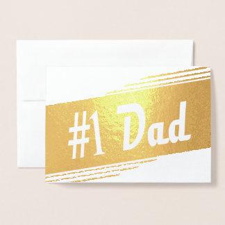 Cartão Metalizado Pai - pai da noiva - vintage