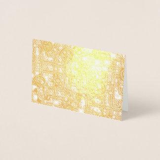 Cartão Metalizado Painel de Steampunk - engrenagens e tubulações -