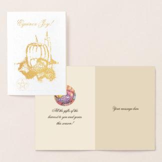 Cartão Metalizado Pentacle das bênçãos de Mabon do equinócio do