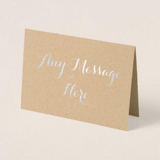 Cartão Metalizado Personalizado criar sua própria folha real toda a
