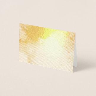 Cartão Metalizado Pintura amarela azul feliz calma do abstrato do