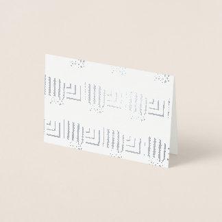 Cartão Metalizado Retângulos modelados