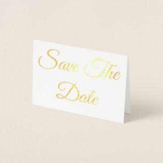 Cartão Metalizado Salvar a data