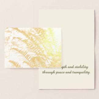 Cartão Metalizado Samambaia dourada tranquilo