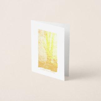 Cartão Metalizado Santuário--Cartão de nota da folha de ouro