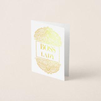 Cartão Metalizado Senhora do chefe - Quote´s positivo