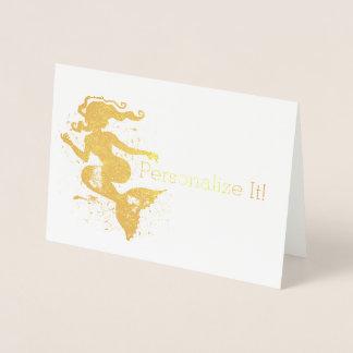 Cartão Metalizado Silhueta aquosa da sereia