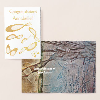Cartão Metalizado Símbolo da infinidade   - os parabéns personalizam