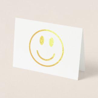 Cartão Metalizado Smiley face