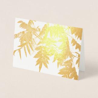 Cartão Metalizado Sumach