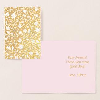 Cartão Metalizado Teste padrão bonito do renascimento elegante