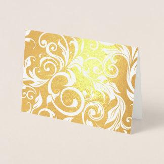 Cartão Metalizado Teste padrão de brilho do redemoinho do papel de