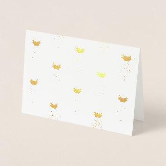Cartão Metalizado Teste padrão do abacaxi