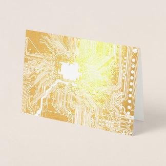 Cartão Metalizado Teste padrão do circuito do cartão-matriz do geek