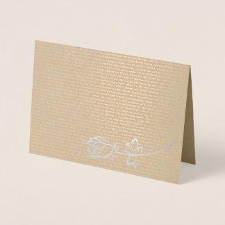 Cartão Metalizado Texto do orgulho e do preconceito