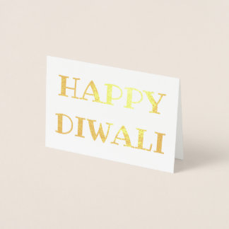 Cartão Metalizado Tipografia elegante feliz da folha de ouro de
