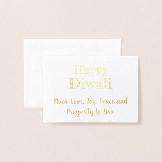 Cartão Metalizado Tipografia elegante real feliz da folha de ouro de